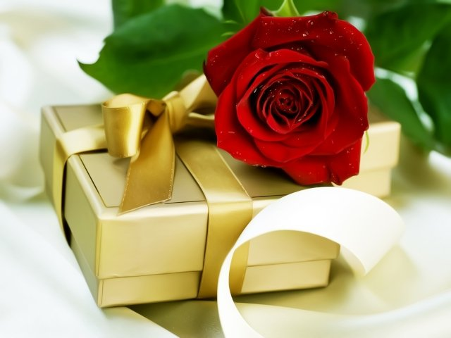 Фото цветов с подарком